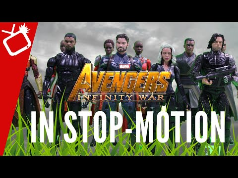 Avengers Infinity War Trailer 2 in Stop-Motion with ACTION FIGURES