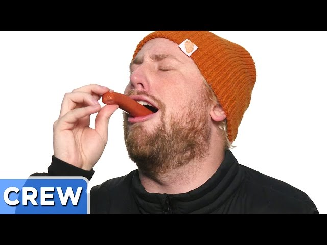 Swallowing Whole Hot Dogs Challenge   Good Mythical Crew Ep. 44