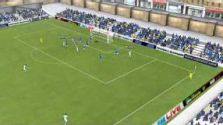 Football Manager 2011 - Vinnie Jones - Cowdenbeath 0 - 2 Man City - Match 1 Highlights