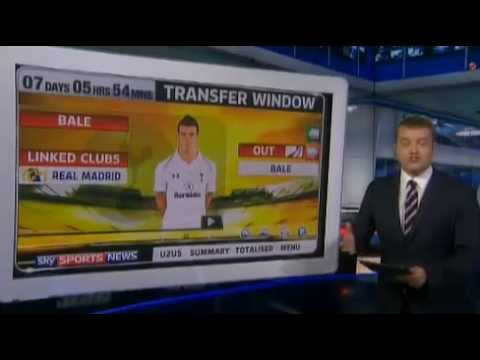 Latest Transfer News - Gareth Bale and more 5pm Monday 26/8/13