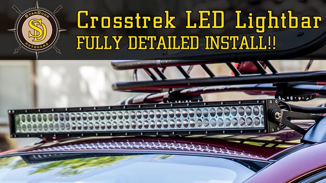"Subaru Crosstrek Roof Rack >> Subaru Crosstrek - Best 42"" LED Lightbar Mounting Solution - Fully Detailed Installation! - YouTube"