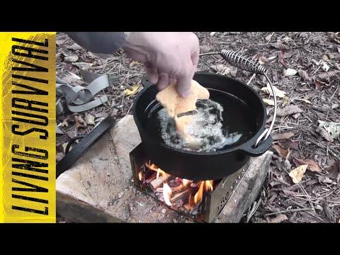 Fish Fry W/ Cast Iron Pot & 180 Tack Stove