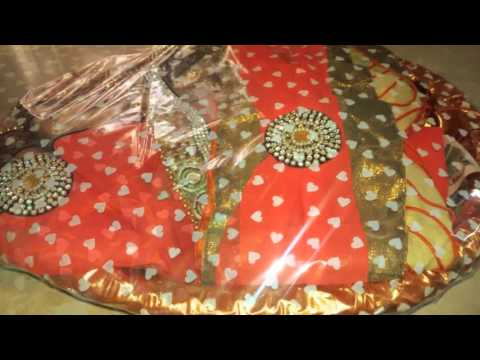 100c4133c3ed3a Beautiful Saree packing for wedding - YouTube
