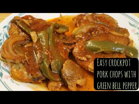Pork Chops With Bell Pepper | Crockpot |