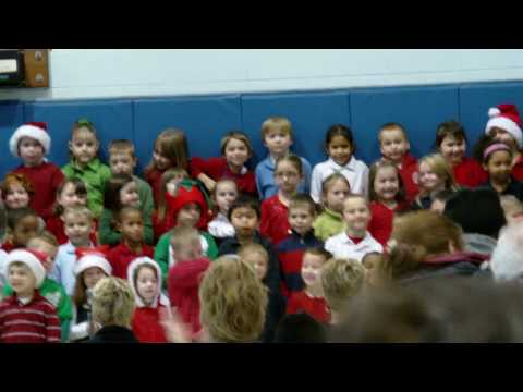 Mikeayla's Kindergarten Christmas Recital at Perry Elementary School
