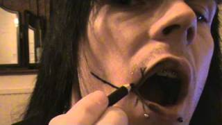 andy sixx hair and make up how to : part 3