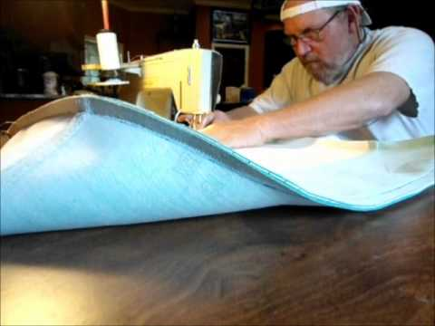 Sewing A Boat Seat Cover Youtube
