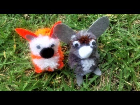 diy-pom-pom-animals-craft-kit---fox-and-rabbit-pompom-toys