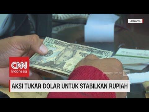 Aksi Tukar Dolar Untuk Stabilkan Rupiah