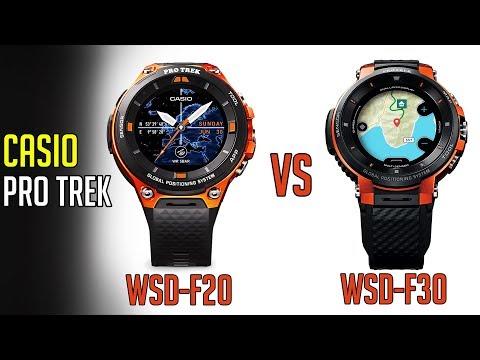 Casio Pro Trek WSD F20 vs WSD F30 | Casio Pro Trek Smartwatches