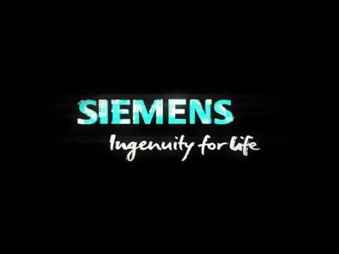 Siemens Futuristic Logo Animation played on Hologram unit