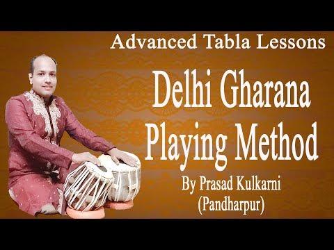 Tabla Lesson #56(playing Technique Delhi Gharana)