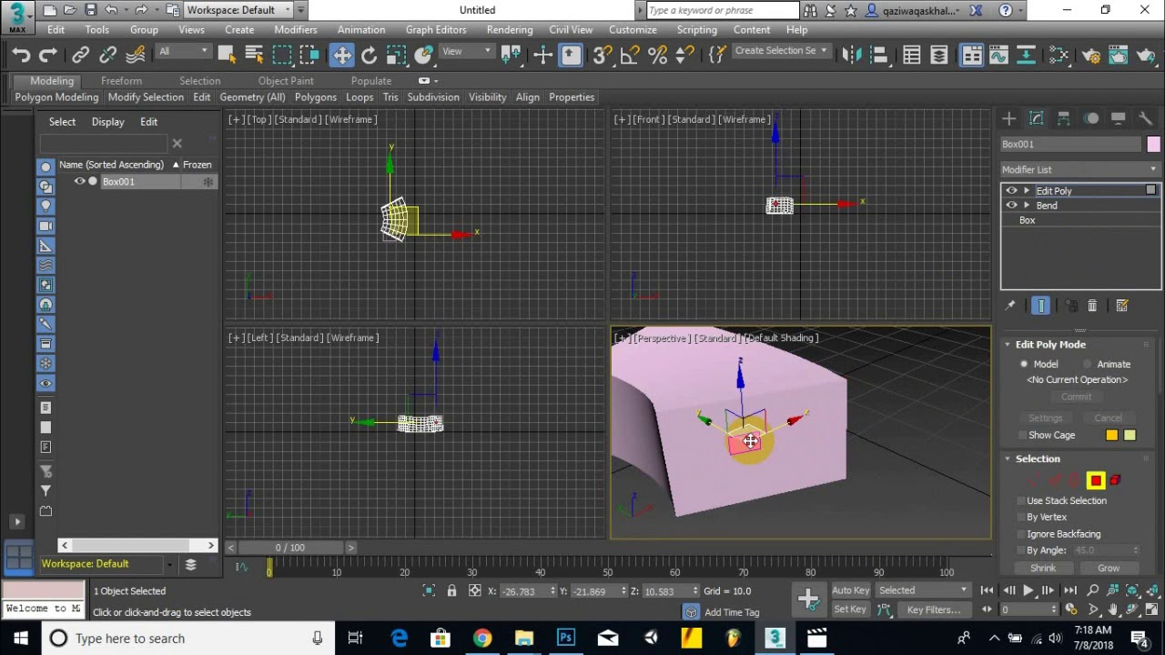Part2 - Exploring 3ds max project and exploring basic interface | Basic 3d] max course for newbie