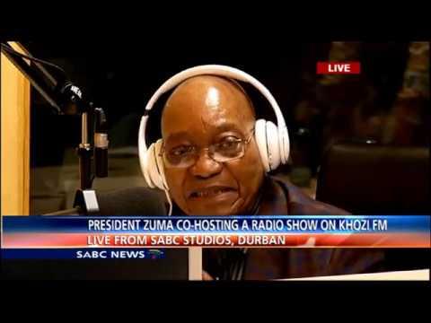 President Zuma co-hosts Sigiya Ngengoma on Ukhozi FM