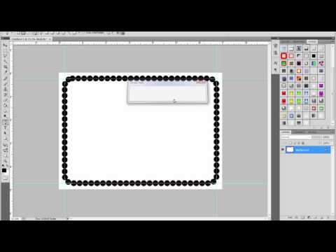 How to Make frames, fancy border, edge in photoshop part 4