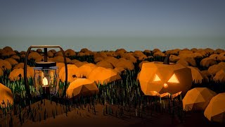 Blender Tutorial How to Create a Low Poly Pumpkin Patch