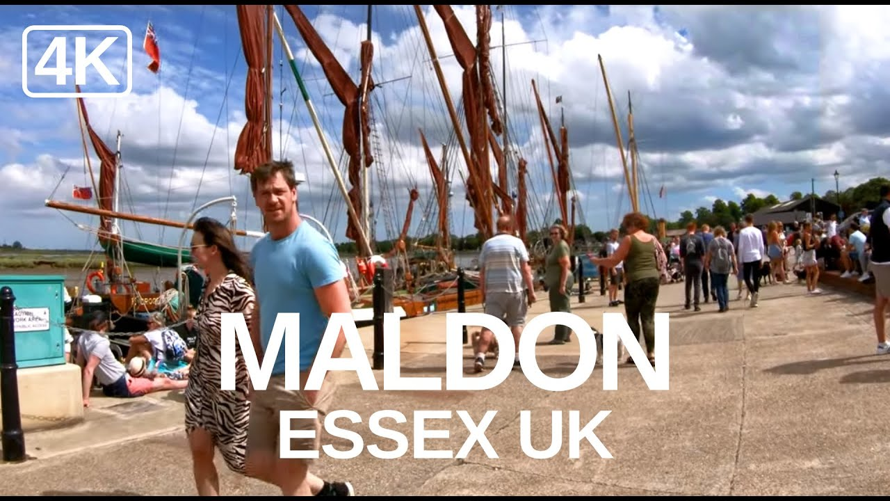 [4K] Maldon Promenade Park and Town (June 2020) A Virtual Walking Video of Maldon, Essex, UK.