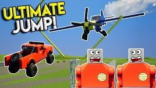 LEGO MONSTER TRUCK JUMPS OVER PLANE?!?! - Brick Rigs Multiplayer Gameplay Challenge - Stunts & Jumps