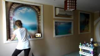 Роспись стен Окна в мечту(Настенная аэрография, нестандартный декор стен, потолков, реставрация мебели с помощью художественных..., 2014-09-11T09:53:08.000Z)