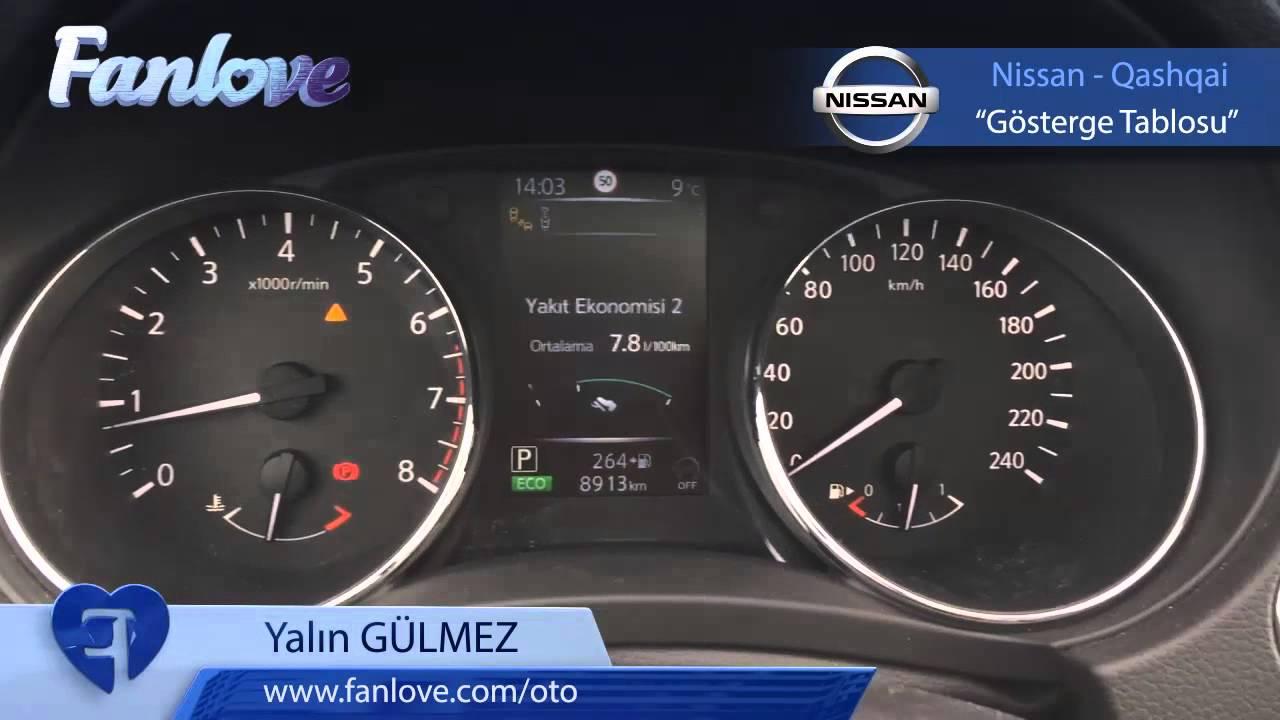 Yeni Nissan Qashqai'ın gösterge tablosu. - YouTube