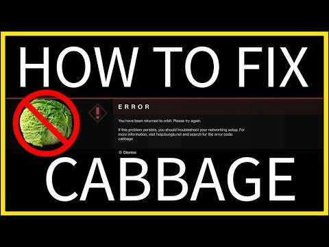 Destiny 2 - How to Fix the CABBAGE Error