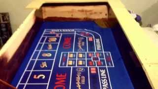 Diy Craps Table Video-2 Stained Part Of Top On Just Have On Table See How Felt Looked