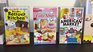 Re-ment Blind Boxes Snoopy's Kitchen, Cake shop, Market & Peanuts Funko Pops Toy Opening