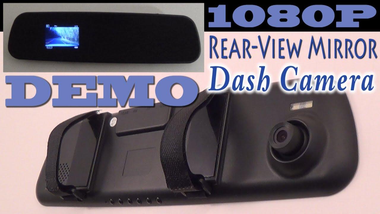 1080p Rear View Mirror Dash Camera Full Demo Youtube