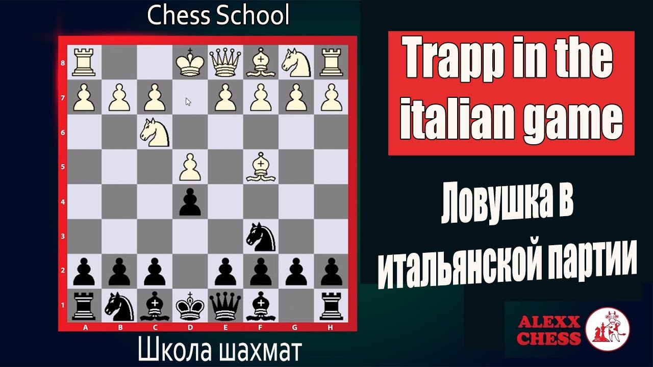 Italian party chess. Trapp in the italian game. Итальянская партия. Ловушка в итальянской партии