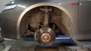 HONDA Accord VII - FRONT - Передние амортизаторы KYB установка