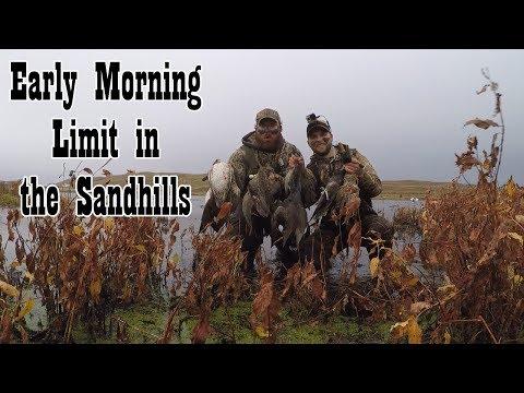 Duck Hunting 2017 - Nebraska Sandhills 8 AM Limit