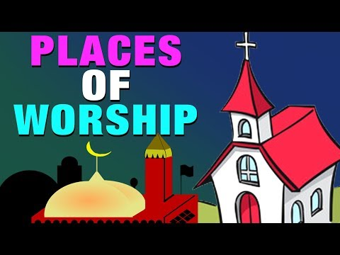 Places of Worship of Different Religions | Temple | Church | Mosque | Simba Tv | #KidsLearning