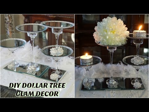DOLLAR TREE DIY GLAM WEDDING CENTERPIECE | DIY EASY & CHEAP WEDDING DECOR IDEA 2019