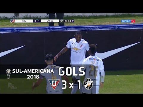 LDU (EQU) 3 x 1 Vasco - Sul-Americana 2018 - Sportv HD⁶⁰
