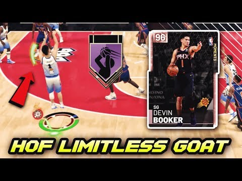 PINK DIAMOND DEVIN BOOKER DOESN'T MISS!! *HOF LIMITLESS RANGE* | NBA 2K19 MyTEAM GAMEPLAY