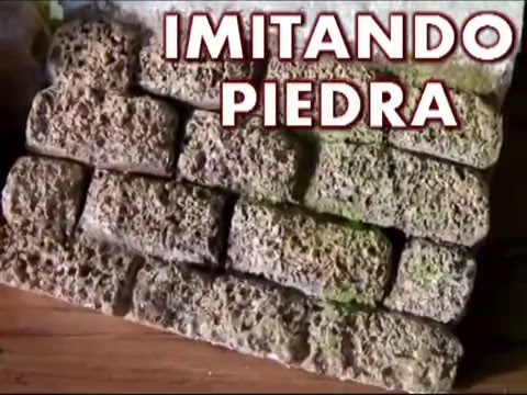 Pared de piedra en porexpan anime icopor youtube - Hacer pared de piedra ...