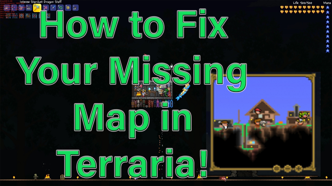Terraria How to Fix a Missing Map