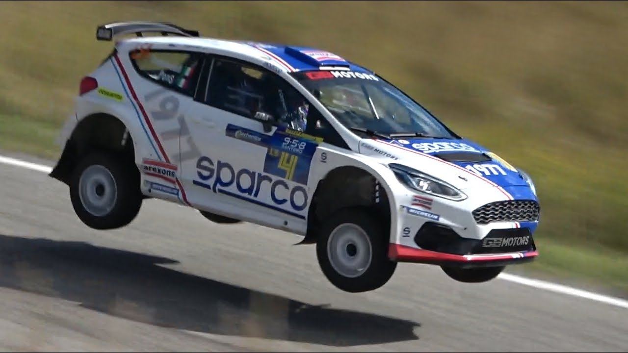 CRAZY Simone Campedelli at Rally Legend 2020! - Ford Fiesta R5 Mk2 Launch Control, Jumps & More!