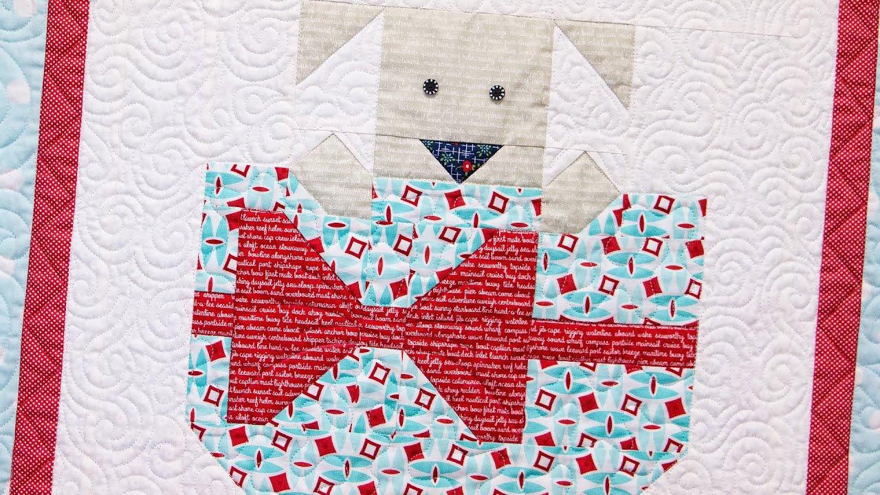Snapshots Quilt Along Block Four Puppy Love Pattern Fat