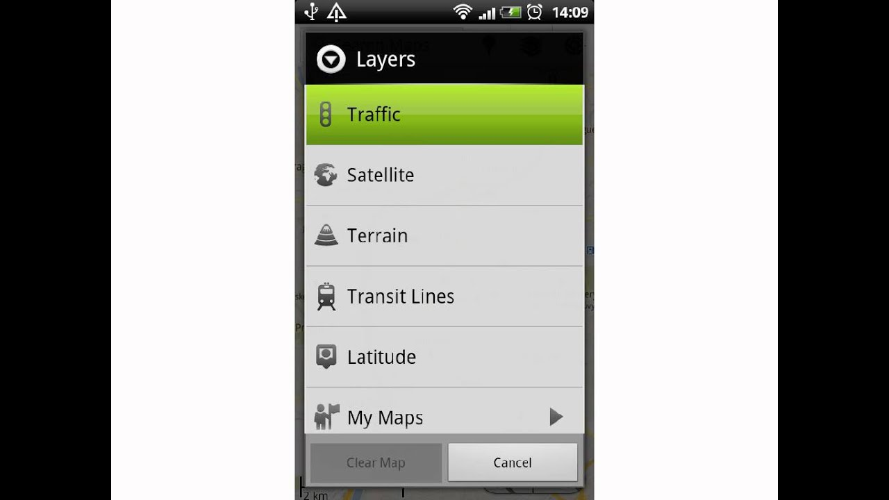 How To Show Traffic Map In Android Phones Youtube