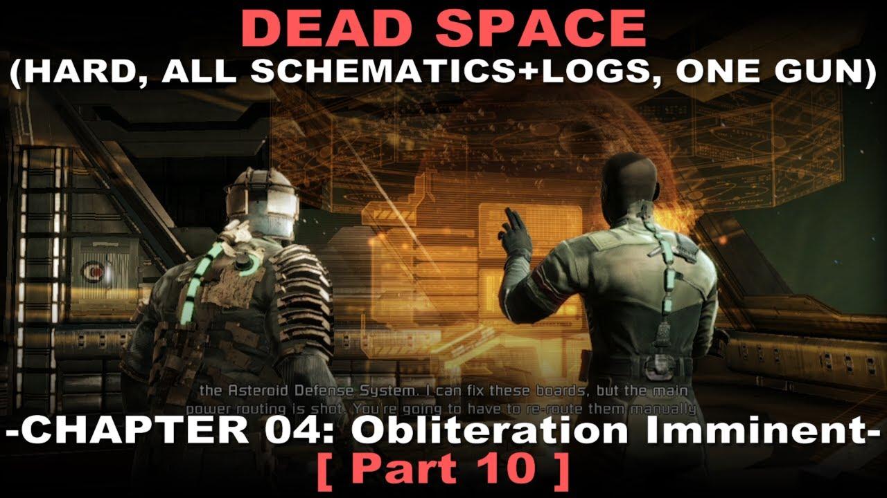 Dead Space Walkthrough 10 ( Hard, All schematics + logs, One gun achi, on