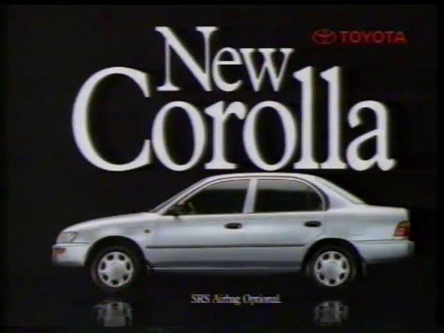 Toyota Corolla 1994 Australian Tv Ad The Really Roomy New Corolla Sedan Version