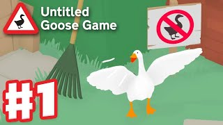 Untitled Goose Game - Gameplay Walkthrough Part 1 - Garden and High Street 100% (PC) Video