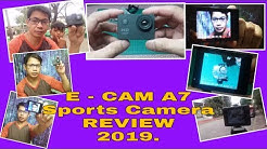 E-CAM A7 Sports Cam Full Review |Vlog Update+ShoutOut