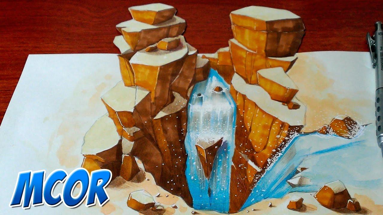 Dibujando Cascadas De Agua En 3D