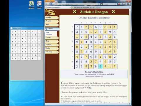 Sudoku Solver Demo - YouTube