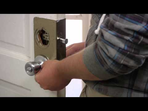 How to Replace an Exterior Door Knob & Lock : Door Installation & Maintenance
