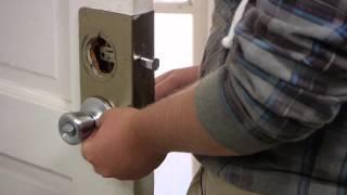 How to Replace an Exterior Door Knob & Lock : Door Installation & Maintenance