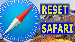 How to Reset Safari to Default Settings