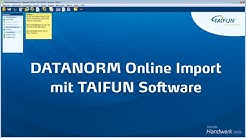 DATANORM Online Import mit TAIFUN Handwerkersoftware